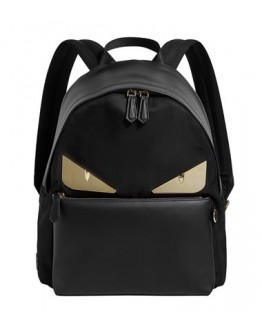 Fendi Bag Bugs Leather Backpack