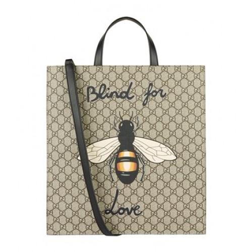 Gucci Bee Motif GG Supreme Tote