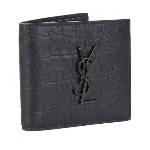 Saint Laurent Monogram Crocodile Effect Wallet