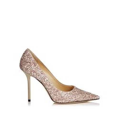 Jimmy Choo- Lo ve 100 Glitter pumps